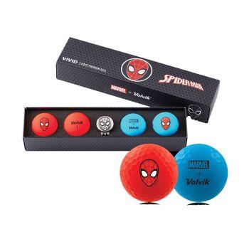 Volvik Vivid Golf Balls Marvel Gift Set - Spiderman