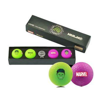Volvik Vivid Golf Balls Marvel Gift Sets - Hulk