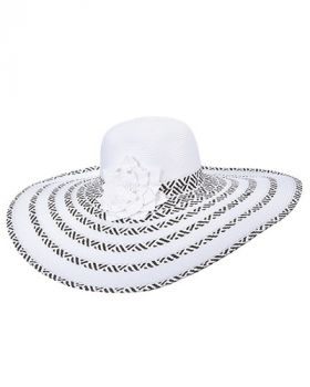 Scala Women's Paper Braid Headwear - White