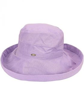 Scala Women's Cotton Big Brim Hat - Lavender