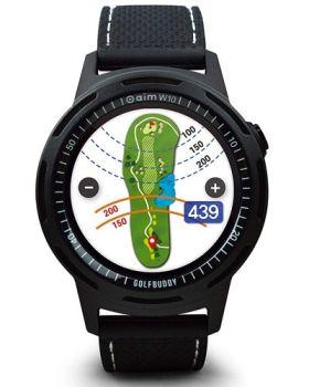 GolfBuddy Aim W10 Golf GPS Watch - Black