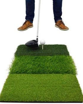 Second Chance On Par Tri Turf Golf Hitting Mat