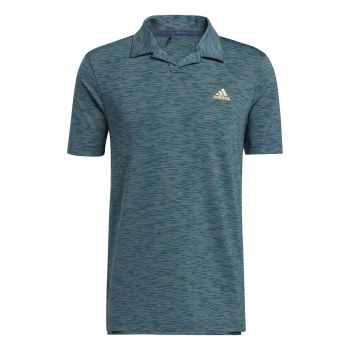Adidas Men's Broken Stripe Polo Shirt - Wild Teal / Acid Mint / Acid Orange