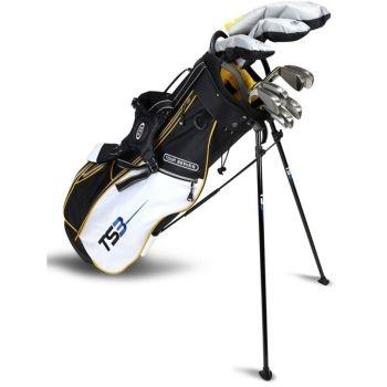 Us Kids Golf TS3-63 10 Club Stand Set V5 All Graphite Shafts  - Grey/Gold