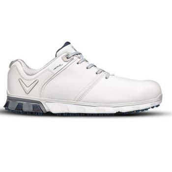 Callaway Men's Apex Pro Spikeless Golf Shoes - White/Navy