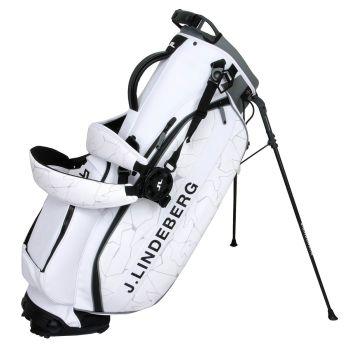 J.LINDEBERG PLAY TOUR GOLF STAND BAG - SLIT WHITE - SS21