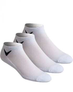 Callaway Tour Authentic Series Low Cut Socks 3 Pairs - White