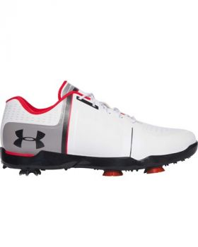 Under Armour Spieth One Golf Shoes - White/Red