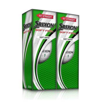 Srixon Men's Soft Feel Performance Pack Golf Balls - Soft White