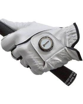 Srixon Women's All Weather Ballmarker Glove Left Hand (For the Right Handed Golfer) - White