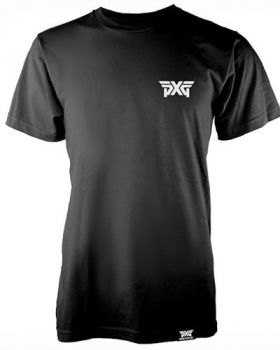 PXG Sueded Logo Crew T-Shirt - Black