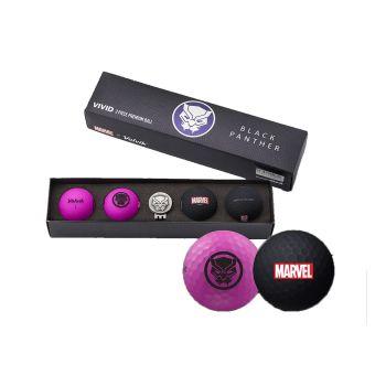 Volvik Vivid Golf Balls Marvel Gift Sets - Black Panther