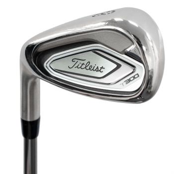 Excellent Condition Titleist T300 Iron Set 4-PW with Recoil 65 F4 Stiff Steel Shaft Left Hand