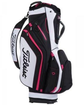 Titleist Lightweight Cart Bag - Black/ White/ Magenta