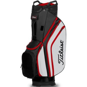 Titleist 14 Lightweight Cart Bag - Black/White/Red