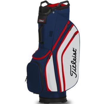 Titleist 14 Lightweight Cart Bag - Navy/White/Red