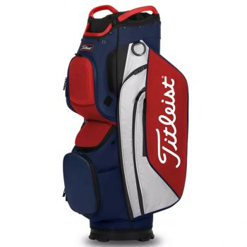 Titleist Cart 15 Lightweight Bag - Navy/White/Red