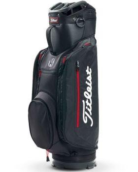 Titleist Lightweight Club 14 Cart Bag - Black/Red