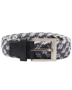 Adidas Braided Stretch Belt - Black / Mid Grey / Vista Grey