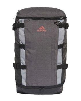 Adidas Rucksack Backpack - Dark Grey Heather/Scarlet