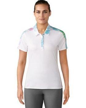 Adidas Women's Resort Traditional Short Sleeve Polo - White