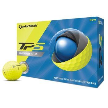 TaylorMade TP5 Golf Balls - Yellow
