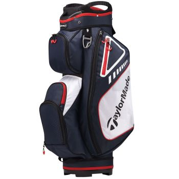 TaylorMade Select Plus Cart Bag - Navy/Red/White