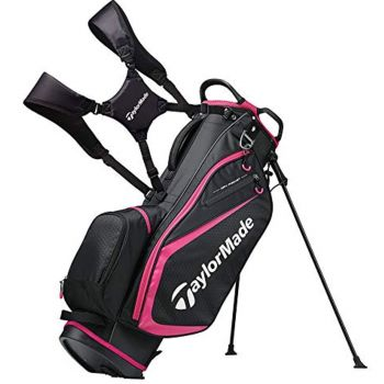 Taylormade Select Plus Stand Bag - Black/Pink