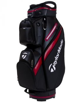 TaylorMade 18 Deluxe Cart Bag - Black/Red