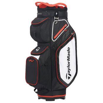TaylorMade Pro 8.0 Cart Bag - Black/White/Red