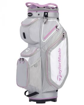 TaylorMade Women's Pro 8.0 Cart Bag - Gray/Purple