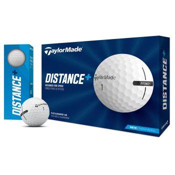 TaylorMade 2021 Distance+ Golf Balls 1 Dozen - White