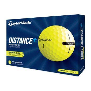TaylorMade 2021 Distance+ Golf Balls 1 Dozen - Yellow
