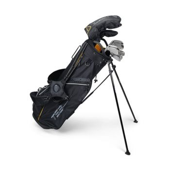 US Kids Golf TS3-63 10 Club V5 Combo Stand Bag Set  - Black/Gold