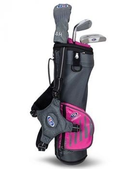 US Kids 2020 UL39 3-Club Carry Set All Graphite - Grey/Pink