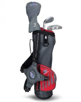 US Kids 2020 UL39 3-Club Carry Set All Graphite - Grey/Red