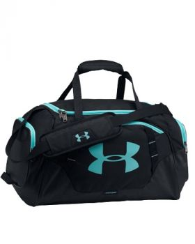UNDER ARMOUR UNDENIABLE 3.0 SMALL DUFFLE BAG - BLACK/BLUE INFINITY