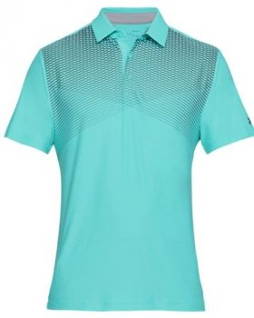 Under Armour Playoff Polo - Tropical Tide/Rhino Gray