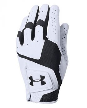 Under Armour Coolswitch Glove Right Hand - White/Black (For the Left Handed Golfer)