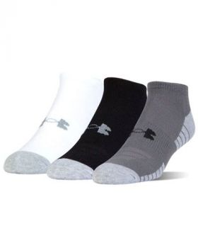 Under Armour HeatGear Tech No Show Socks – 3-Pack (Mixed Color)