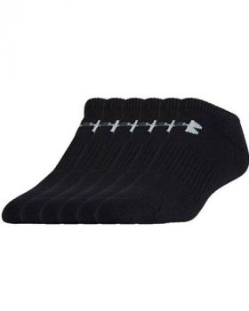 Under Armour Charged Cotton 2.0 No Show Socks - Black