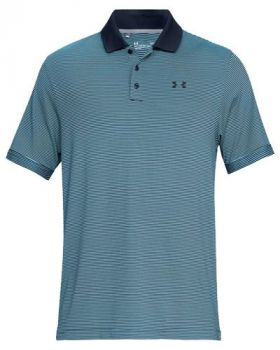 Under Armour Performance Patterned Polo - Venetian Blue/Academy