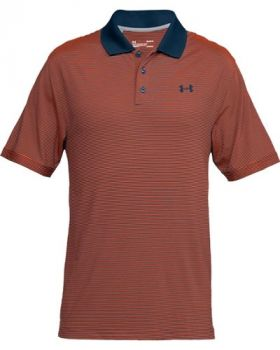 Under Armour Performance Patterned Polo - Magma Orange/Techno Teal