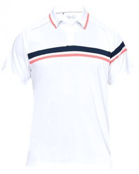Under Armour Tour Tips Drive Polo - White/Mod Gray