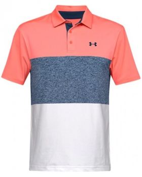 Under Armour Playoff 2.0 Polo - Blitz Red/Petrol Blue