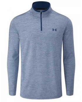 Under Armour Playoff 2.0 1/4 Zip Long Sleeve - Thunder/Petrol Blue