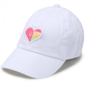 Under Armour Girl's Patch Armour Cap - White/Mojo Pink