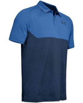 Under Armor Tour Tips Blocked Polo - Tempest/Academy