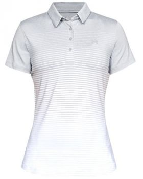 Under Armour Women's UA Zinger Short Sleeve Novelty Polo -Mod Gray