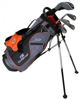 Us Kids Golf UL51-U 5 Club All Graph Stand Set - Orange
